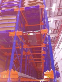 Heavy Duty Pallet Storage Radio Shuttle Racking System Operated by Forklift / Shuttle Motor