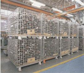 "Heavy Weight Foldable Collapsible Wire Containers W47"" X D39"" X H35"" In Zinc plate Finishes"