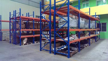Supermarket steel board heavy duty shelving with forklift entry / extract ,  2 - 8m