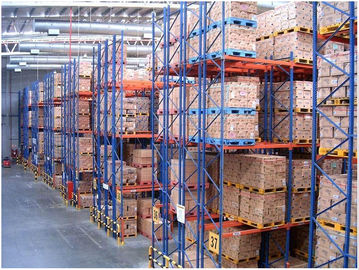 Double Deep Industrial Pallet Racks , Warehouse Storage Steel Pallet Racking