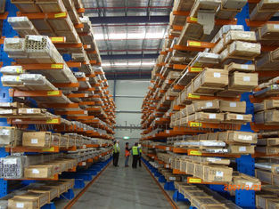 Irregular Pipe Cargo Stock Cantilever Shelving Heavy / Light Module
